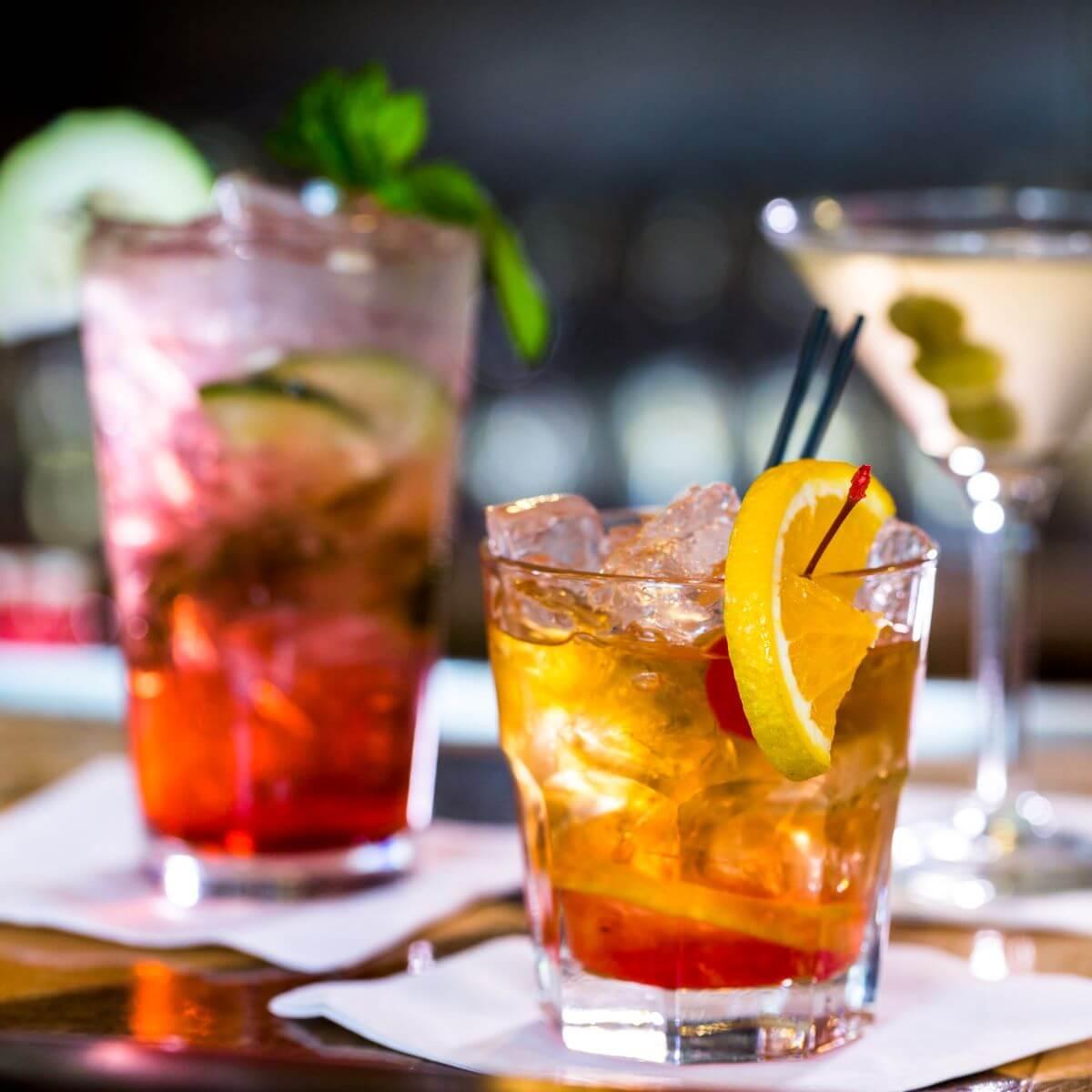 Drei einfache Cocktails