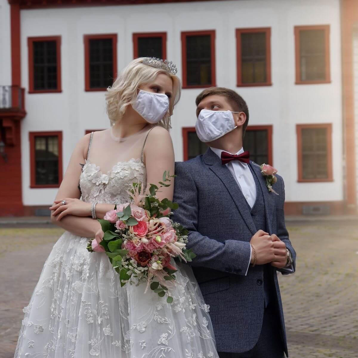 Paar möchte während Corona heiraten