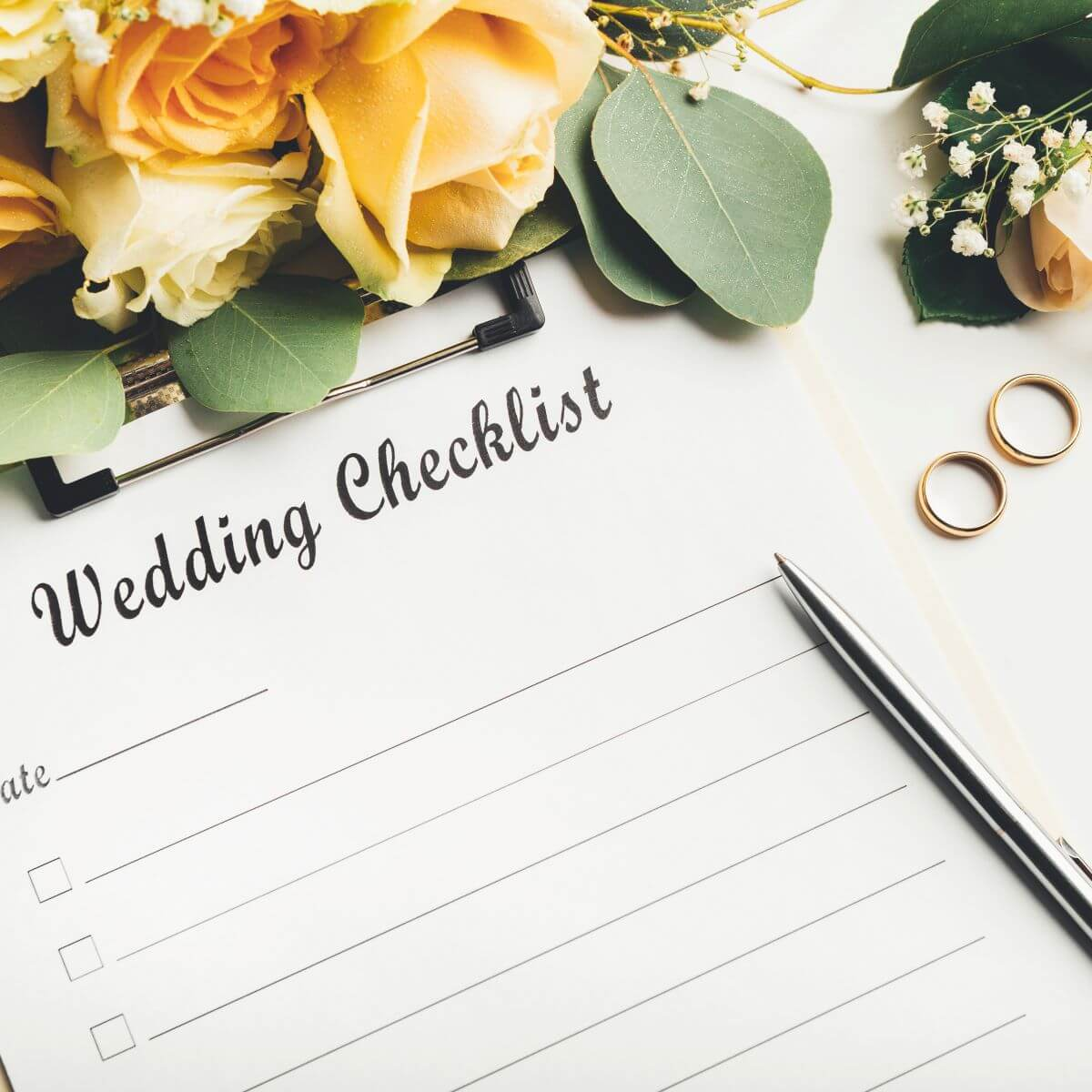 Checkliste, mit der man eine Hochzeit planen kann